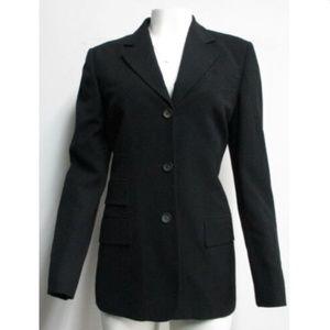 GUCCI womens black 3 button blazer SZ 44